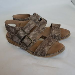 Eric Michael snakeskin leather sandals, Size 37